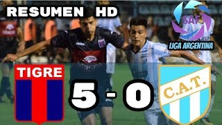 Tigre vs Atletico Tucuman (5-0) Resumen HD Seminifal Ida