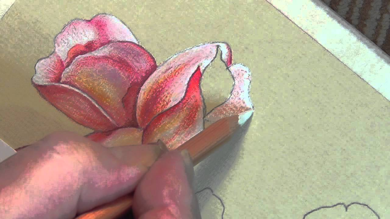 Vase of Roses - Flower & Leaf tutorial - YouTube