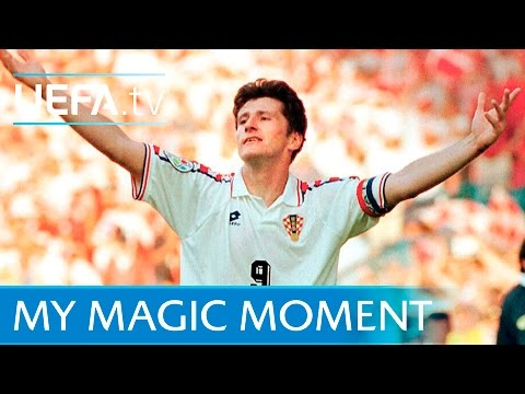 Davor Šuker's Chip At EURO 96: Croatia V Denmark