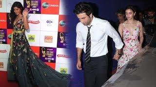 Katrina Kaif Runs Away As Ranbir Kapoor Enters With GF Alia Bhatt Holding Hands At Zee Cine Awards