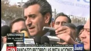 C5N - TRANSPORTE: RANDAZZO RECORRIO OBRAS EN ESTACION BURZACO