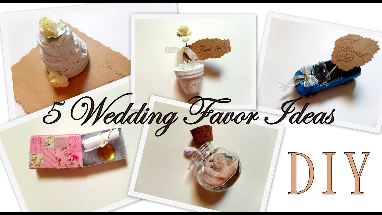 5 Creative Wedding Favor Ideas (Part 1) DIY -Easy and Affordable ...