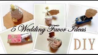 5 Creative Wedding Favor Ideas (Part 1)  DIY -Easy and Affordable | by Fluffy Hedgehog