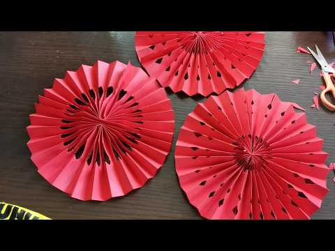 Fan Lantern - DIY Chinese New Year Decoration - YouTube