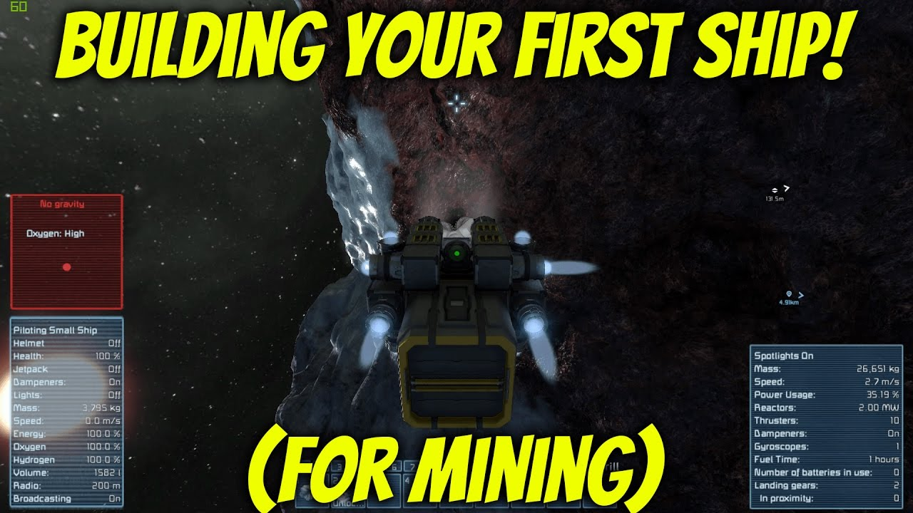 BUILDING YOUR FIRST SHIP!   Space Engineers S1 E2