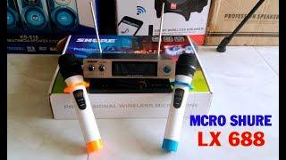 Micro SHURE 688 Không Dây/ Cực rẻ/ Hát Karaoke Quá nhẹ
