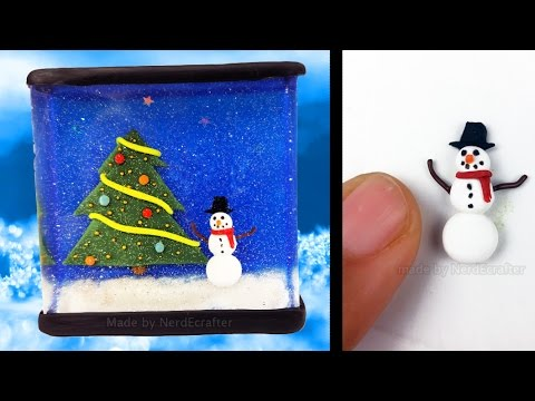 CHRISTMAS WINTER NIGHT RESIN & Polymer Clay Tutorial