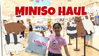 Vlog #6 Miniso Shopping Haul Philippines : We Bare Bears Collections