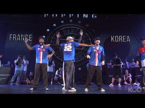 KOD World Cup 2018 - Korea Vs France    Semi Final  Popping Team Battle