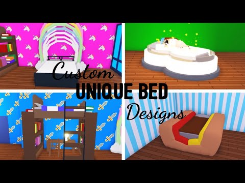 6 Custom BED Design Ideas & Building Hacks (Roblox Adopt me) | Its SugarCoffee