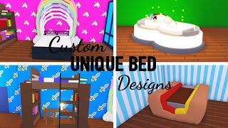 6 Custom BED Design Ideas & Building Hacks (Roblox Adopt me) | Its SugarCoffee