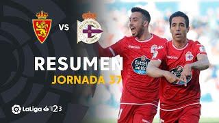 Resumen de Real Zaragoza vs RC Deportivo (0-1)