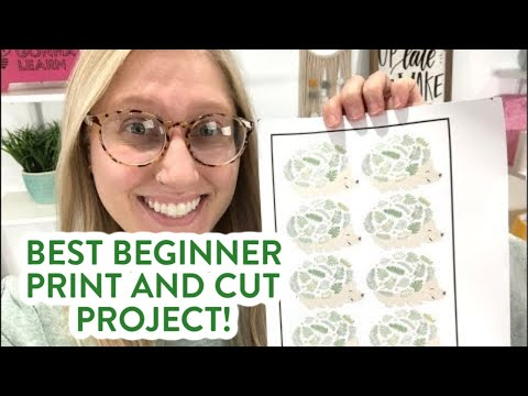 Adorable Hedgehog Print And Cut Mug - Best Beginner Print & Cut Project!