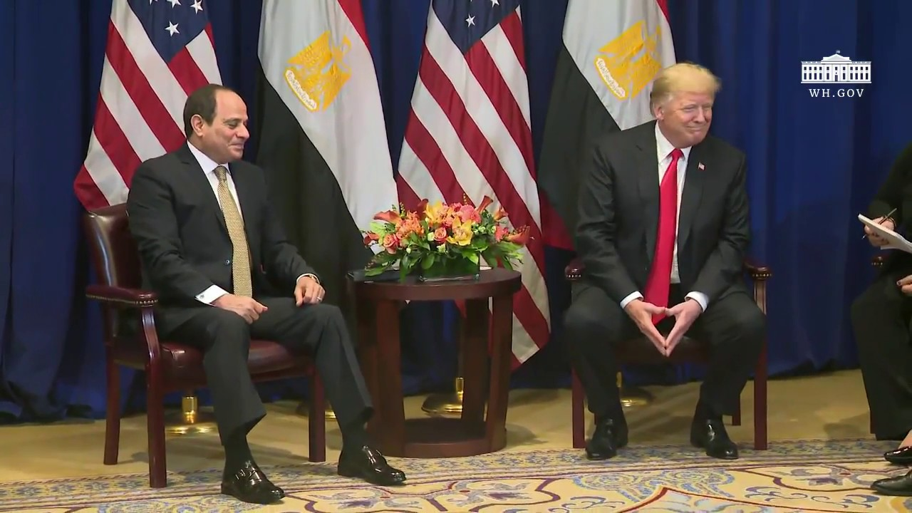 President Trump Participates in a Bilateral Meeting with the President of the Arab Republic of Egypt