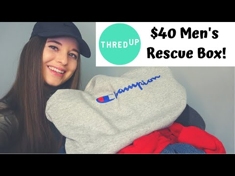 ThredUp Men's Mixed Clothing Rescue Box | $40 MYSTERY UNBOXING | Reselling Clothing Online
