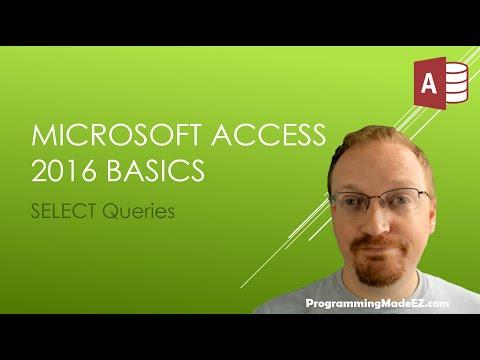 7. Microsoft Access 2016 Basics: SELECT Queries | SQL Queries