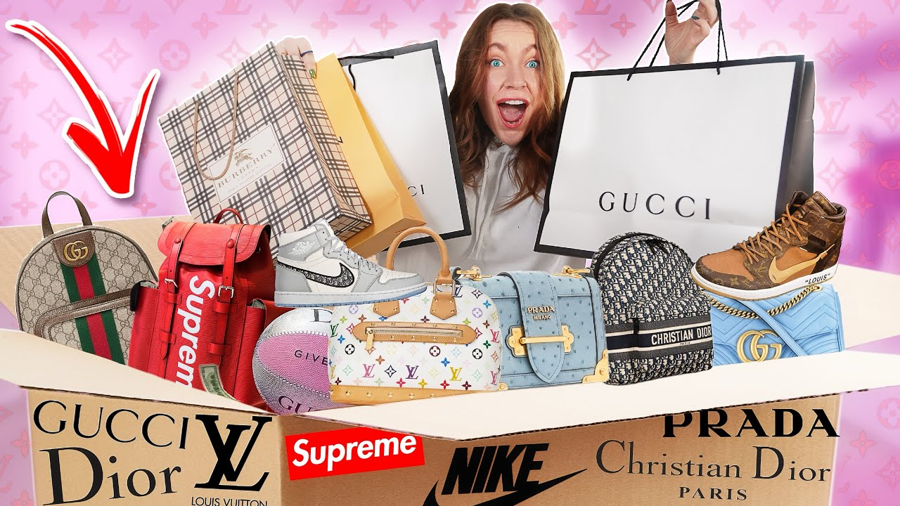 МИСТЕРИ БОКС ЗА 250 ТЫСЯЧ РУБ! ВНУТРИ GUCCI Chanel LV Nike Dior самый дорогой MYSTERY BOX челлендж