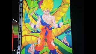 Son Goku SSJ & Shenron on Namek [DBZ] - TolgArt