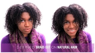 defined braid out on natural hair