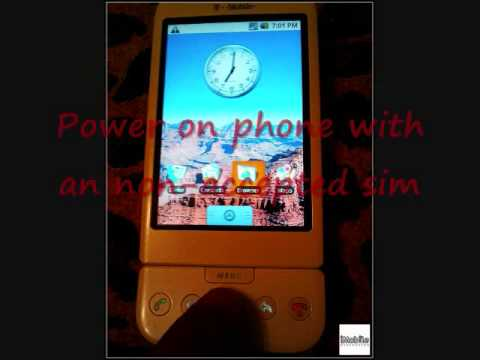 How to unlock any HTC phone Dream hero aria desire legend hd2 snap by code