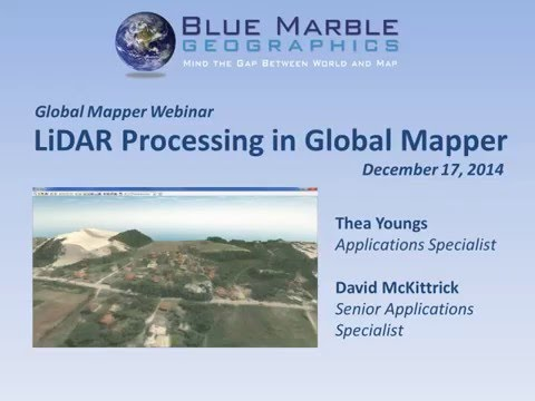 Global Mapper LiDAR資料處理與分析