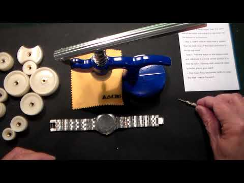 How To Use A Watch Back Watch Press