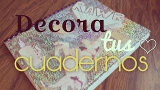 Repeat youtube video Decora tus cuadernos y plumas KAWAII ♥ NYA RAWR