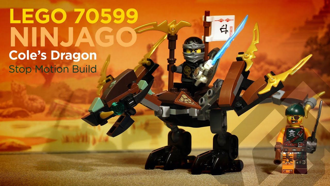 lego ninjago 70599 coles dragon 2016 stop motion youtube