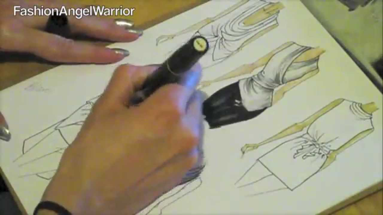 Fashion Sketching 101- How to become a fashion designer - YouTube