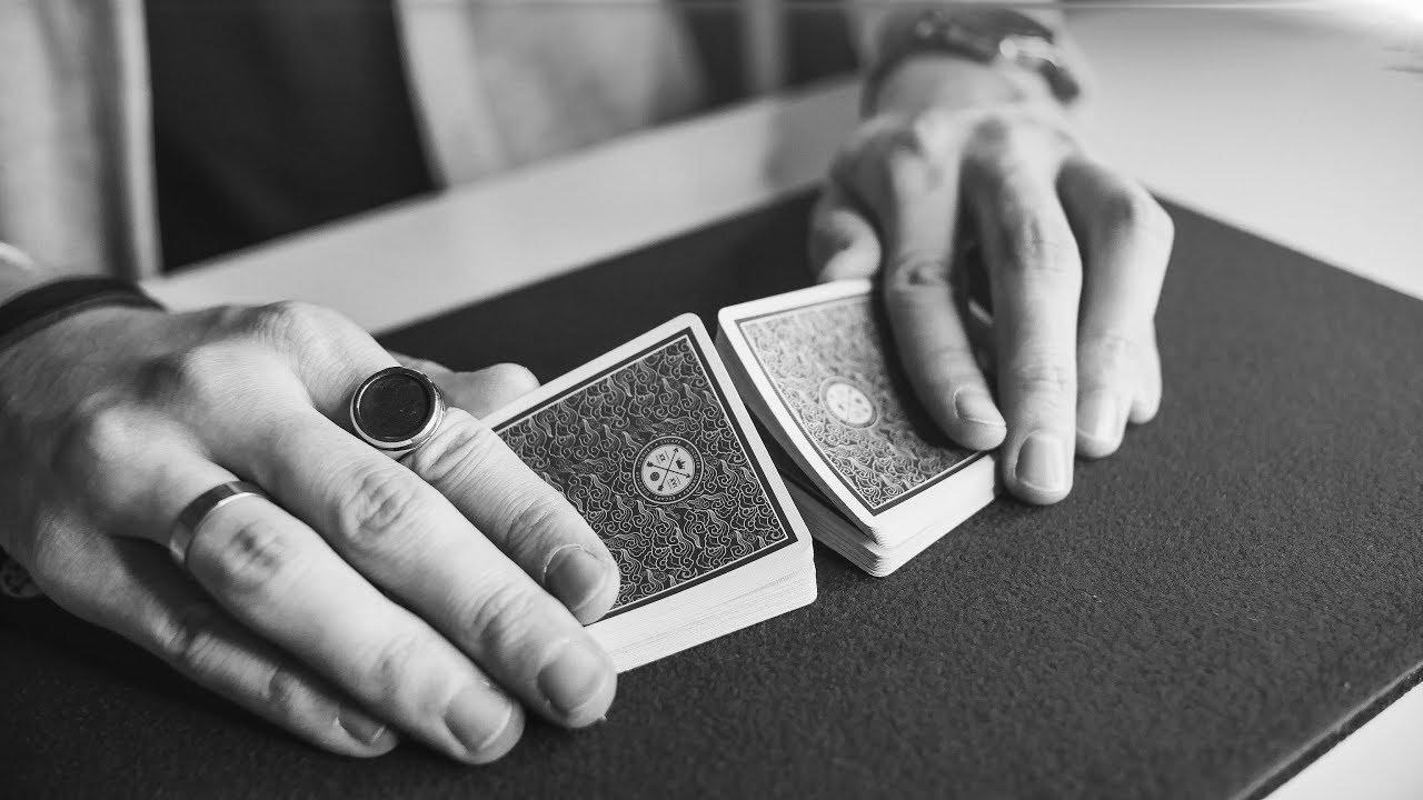 ЛЕНТА, ТАСОВКА ВРЕЗКОЙ И ПОДСНЯТИЕ КАРТ ЗА СТОЛОМ   ФОКУСЫ С КАРТАМИ ДЛЯ НАЧИНАЮЩИХ
