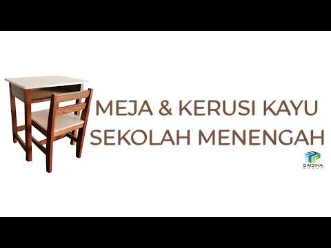 Meja & Kerusi Kayu Sekolah Menengah oleh Saidina Group