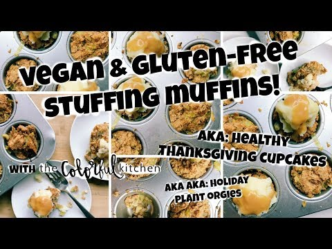 Vegan Stuffing Muffins! A Gluten-Free Stuffing! (aka a Healthy Thanksgiving Food Orgy!)