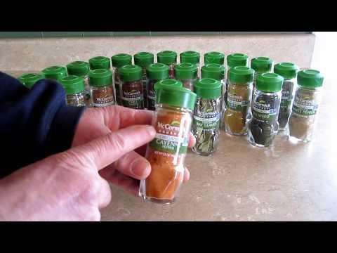 McCormick's Gourmet 24-Jar Wood Spice Rack Unboxing Review