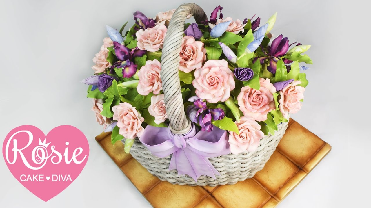 How To Make A Basket Of Flowers Cake : How to make a basket of flowers cake