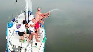 На яхте по озеру Slawa (Польша)
