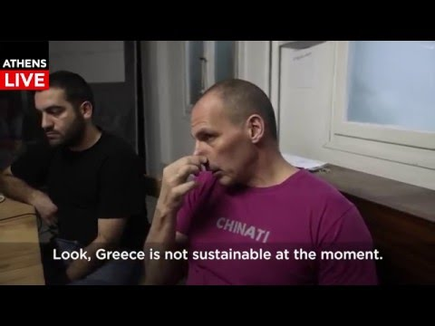 Yanis Varoufakis Guerilla Interview Part 1