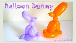Easter Crafts - How to Twist a Balloon Animal Easter Bunny / Rabbit - Balloon Modeling - Easy