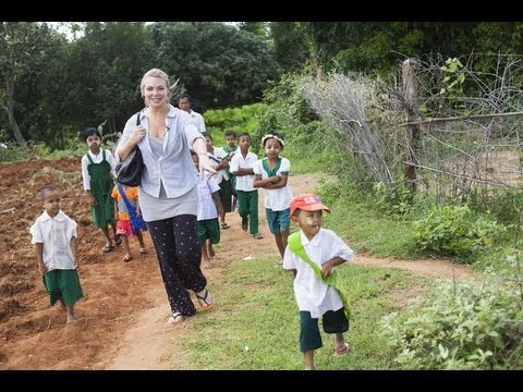 Samantha Womack in Burma/Myanmar with ActionAid