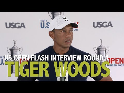 Tiger Woods Thursday Flash Interview 2020 US Open - Round 1