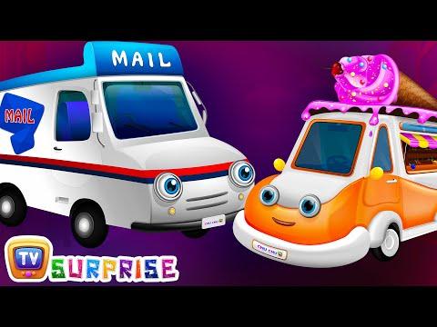 Surprise Eggs Toys - UTILITY Vehicles for Kids | Ice Cream Van & more | ChuChuTV Egg Surprise