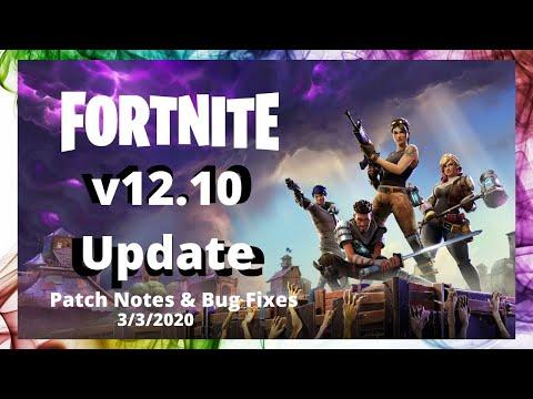 Fortnite Update 12.10 Patch Notes (Fortnite Battle Royale)