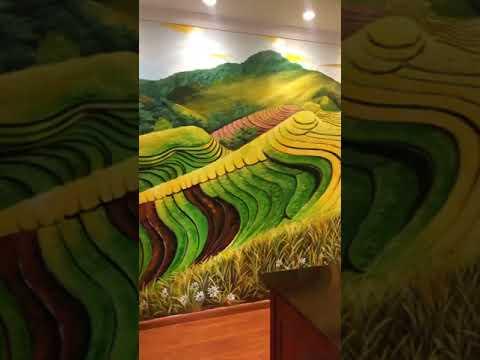 Vẽ tranh tường phong cảnh ruộng bậc thang tại Từ Liêm, Hà Nội – Vẽ tranh tường Hà Nội rẻ đẹp Zalo 07