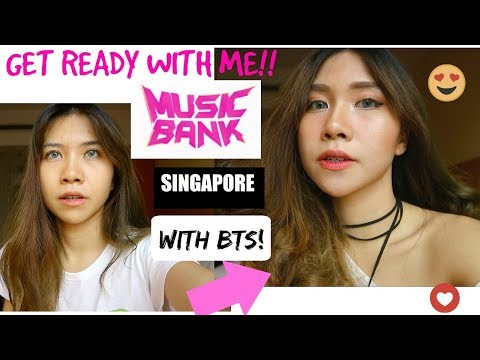 GET READY WITH ME to MUBANK SINGAPORE| MAKE UP TUTORIAL KETEMU BTS  ❤
