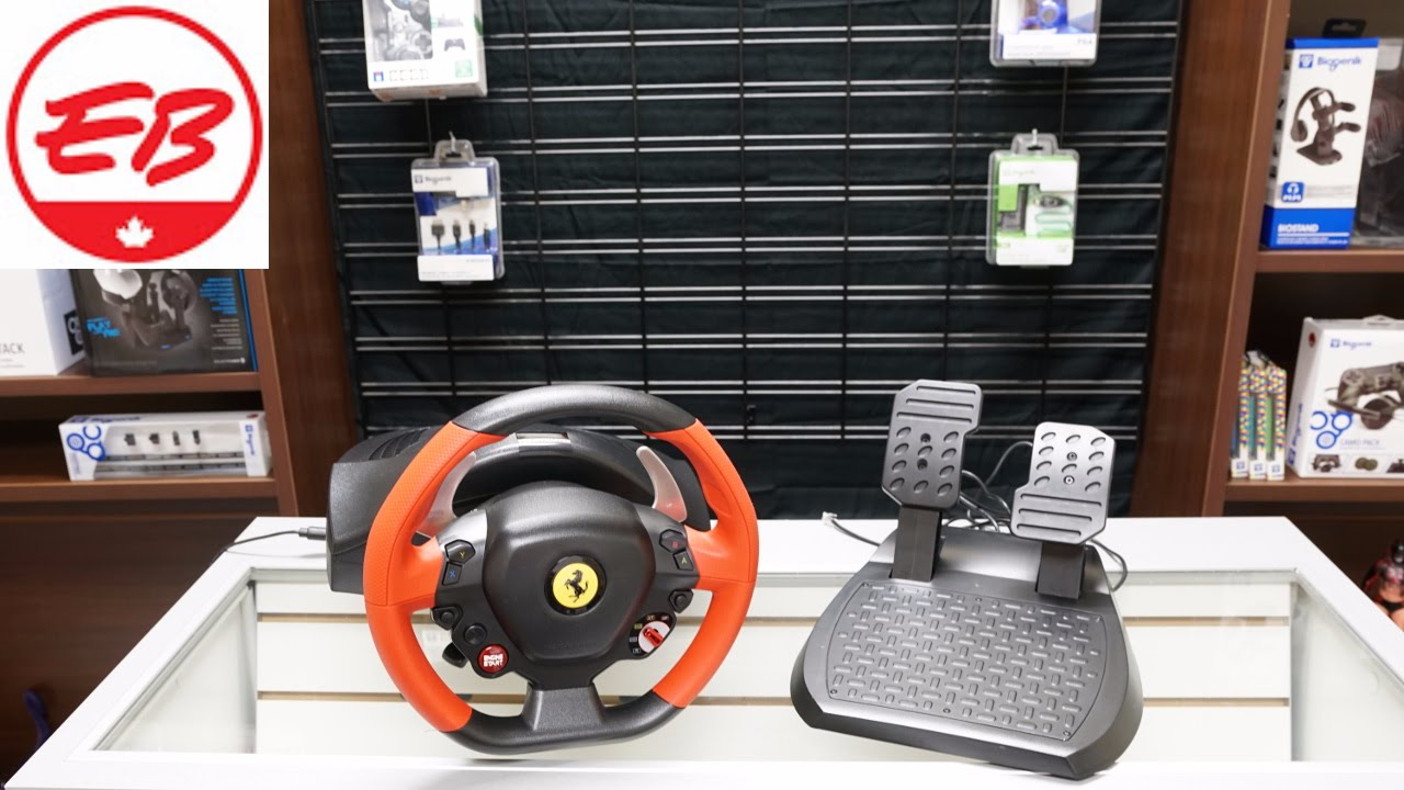 Thrustmaster Ferrari 458 Spider Racing Wheel Unboxing | EB Unboxes
