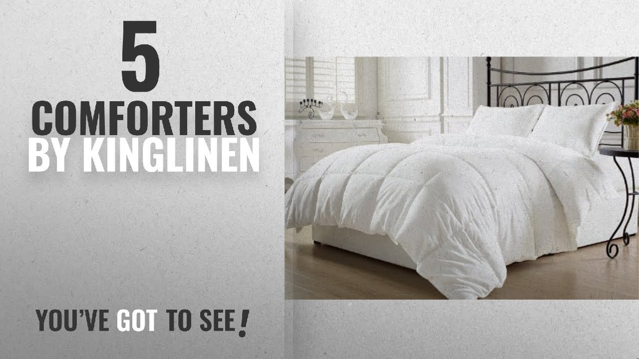 Top 10 Kinglinen Comforters 2018 White Down Alternative Comforter Duvet Insert King