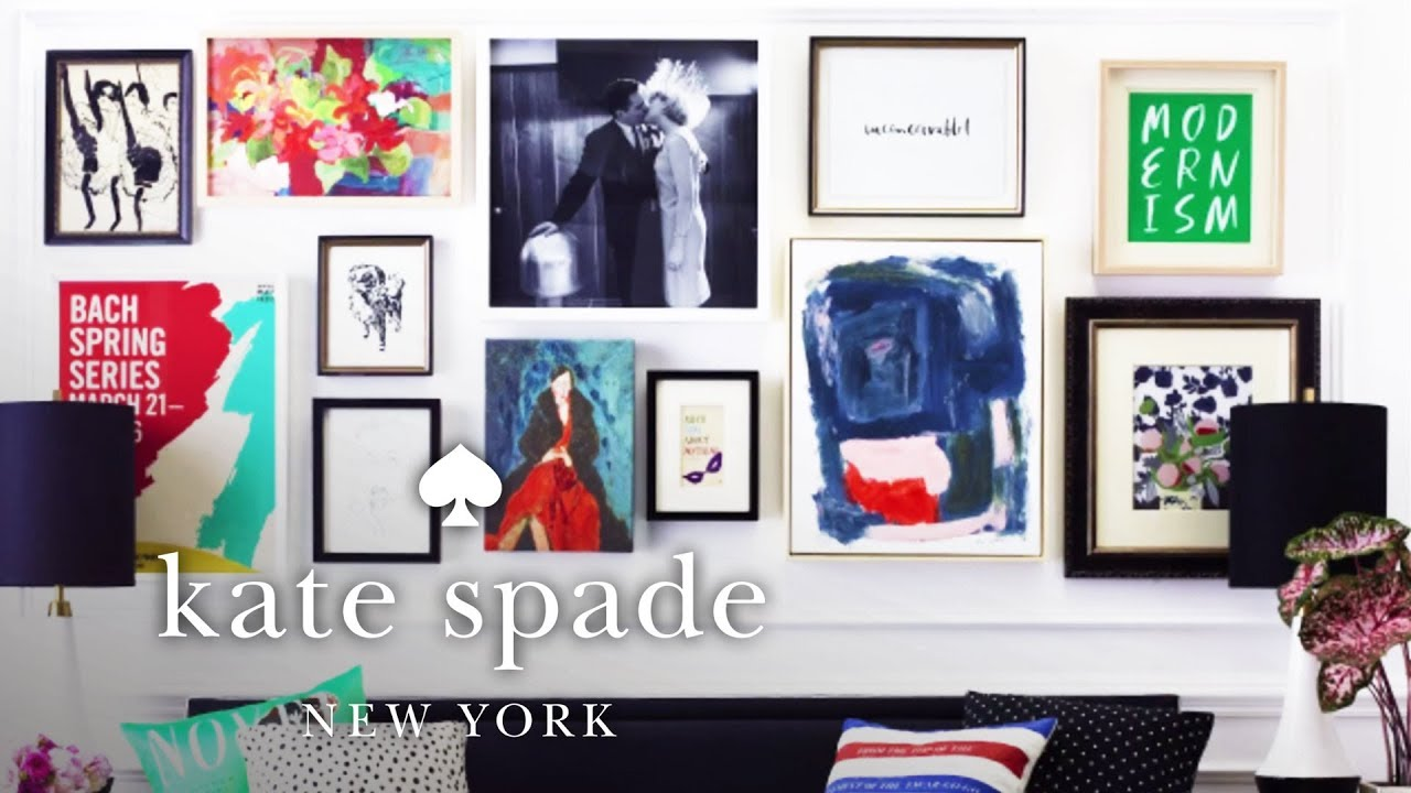 How to style a gallery wall make yourself a home kate spade new how to style a gallery wall make yourself a home kate spade new york solutioingenieria Images