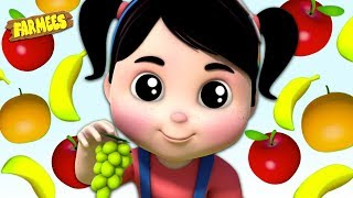 Fruit Names & Colors for Kids | Nursery Rhymes & Cartoon Videos