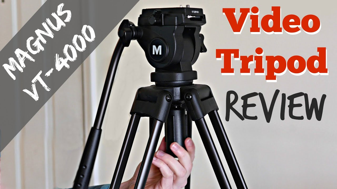 Magnus VT-3000 Tripod with Fluid Head and Tripod Dolly