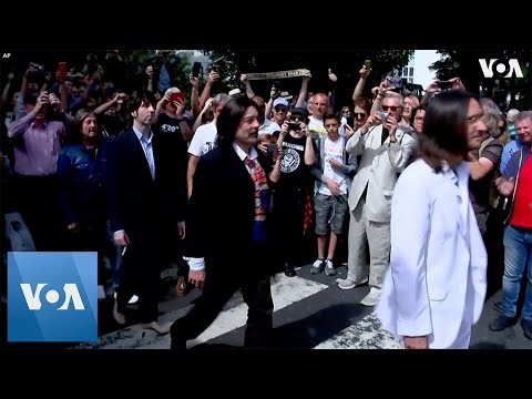 Chad Tyson - Thousands of Fans Show Up at Abbey Road For 50th of The Beatles Photo Shoot