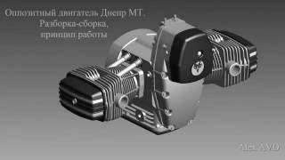 видео Оппозитный двигатель